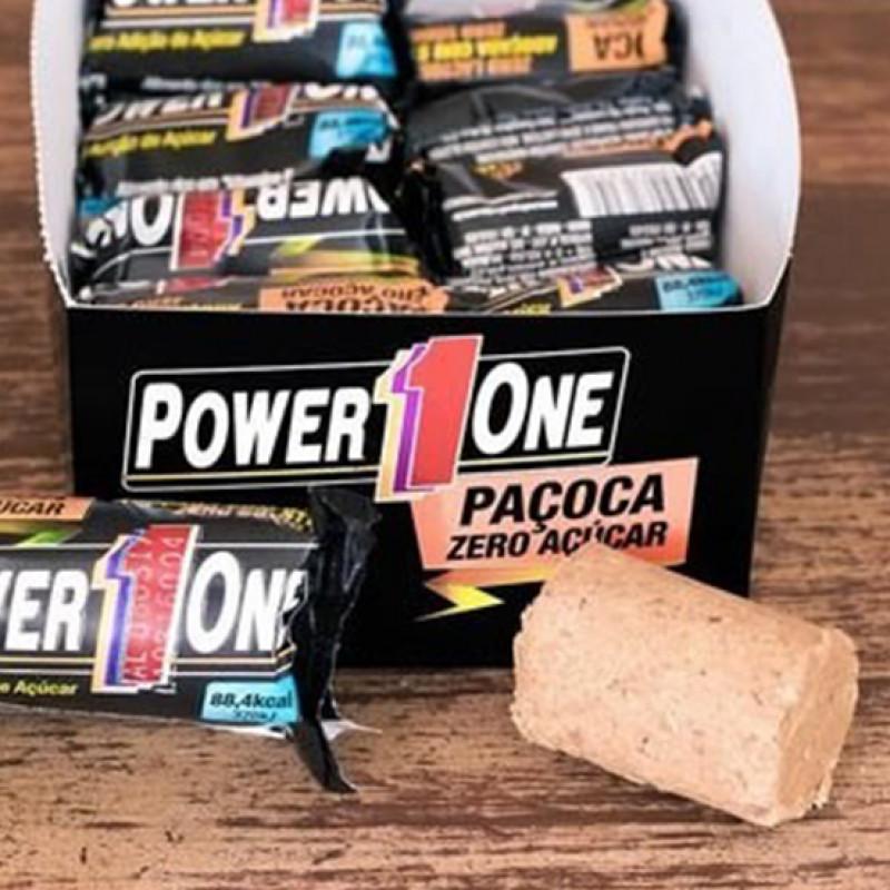 eb8c18278 Caixa de Paçoca Zero Adição de Açúcar Power One 24 unidade