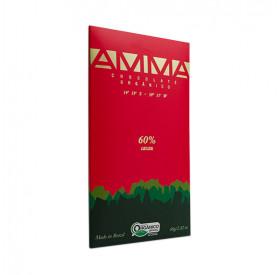 Chocolate 60% cacau orgânico - AMMA