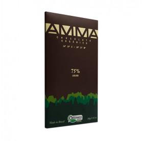 Chocolate 75% cacau orgânico - AMMA