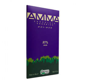 Chocolate 85% cacau orgânico - AMMA