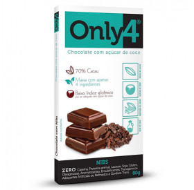 Barra de Chocolate Only 4 Nibs 80g