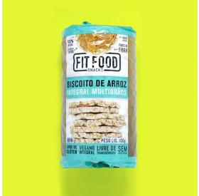 Biscoito de Arroz Multigrãos 100g FIT FOOD