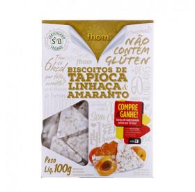 Biscoito Tapioca Amaranto e Linhaça Fhom 100g