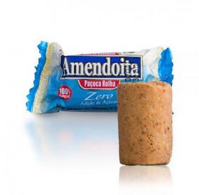Caixa de Amendoita Paçoca Rolha Zero Açúcar 24 unidades