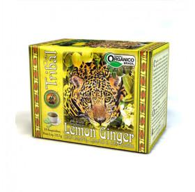 Chá Misto Lemon Ginger, Chá Mate, Limão e Gengibre Orgânico 22,5 g (15 saches) TRIBAL BRASIL