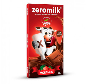 Chocolate 40% Cacau Com Aroma De Morango 80g - Zero Milk