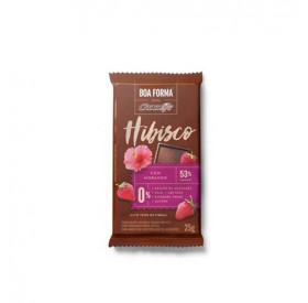 Chocolate com Hibisco e Morango Boa Forma 25 g  - CHOCOLIFE