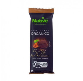 Chocolate Orgânico 50% Cacau 25gr Native