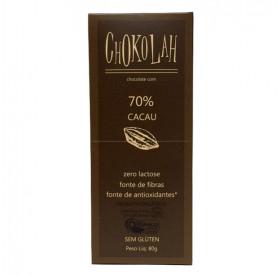 Chocolate Zero Açúcar 70% Cacau Orgânico 80g