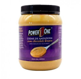 Creme De Amendoim Com Chocolate Branco Power One 1Kg