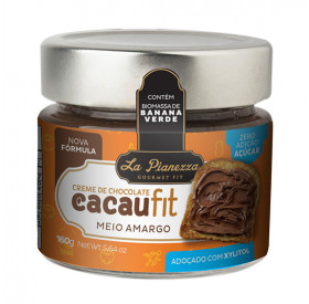 Creme de chocolate com Biomassa de Banana Verde Meio Amargo La Pianezza 160g
