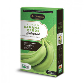 Biomassa de banana verde integral 250gr - La Pianezza