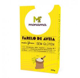Farelo de Aveia Sem Glúten Monama - 200 g