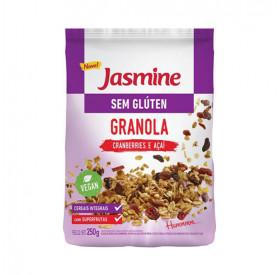 Granola sem Glúten com Cranberries e Açaí- Jasmine 250g