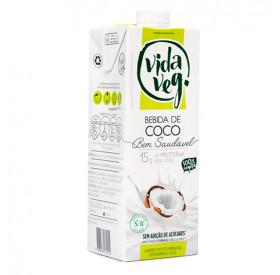 Leite Vegetal De Coco 15g De Proteína Por Litro - 1 Litro - Vida Veg
