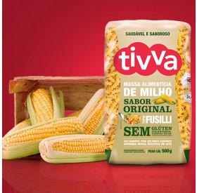 Massa Alimentícia de Milho Sabor Original Parafuso Tivva 500 g