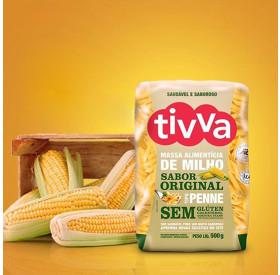Massa Alimentícia de Milho Sabor Original Penne Tivva 500 g