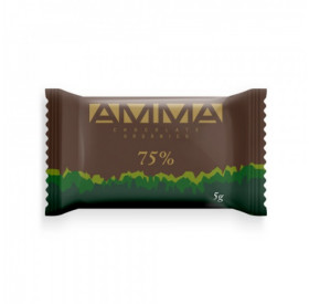 Chocolate 75% cacau orgânico 5g - AMMA