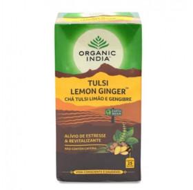 Chá Lemon Ginger (Limão e Gengibre) com Tulsi Organic India