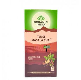 Cha de Masala com Tulsi Organic India Cx 25 Saches 45g