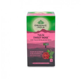 Chá Sweet Rose Tulsi Organic India