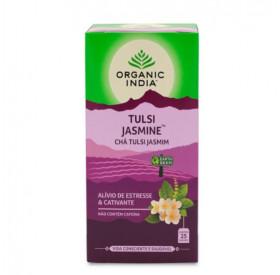 Chá Jasmine (Jasmim) com Tulsi Organic India