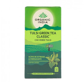Chá Green Tea Classic com Tulsi Organic India