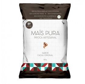Pipoca Artesanal Sabor Chocolate - Mais Pura 150g