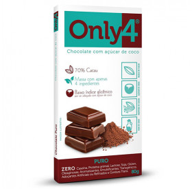 Barra de Chocolate Only 4 Puro 80g