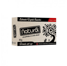 Sabonete Natural De Carvão Ativado 80g - Natural